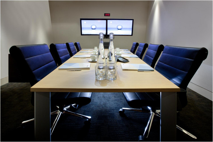 office interior with large table