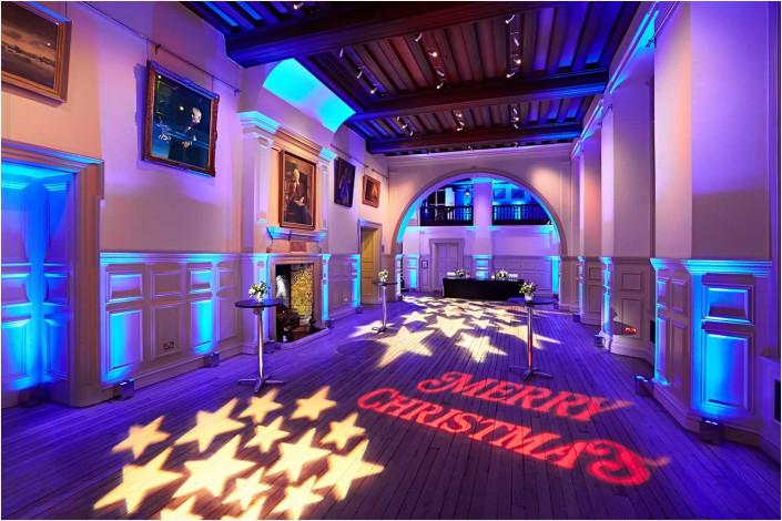 christmas venue with lighting