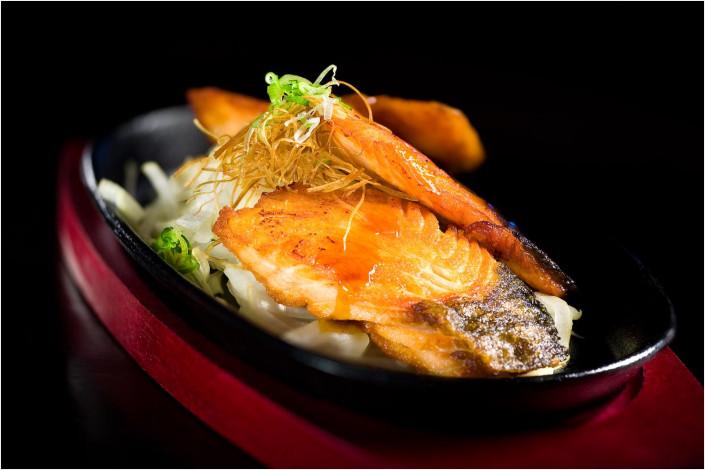 food photography salmon fish on plate