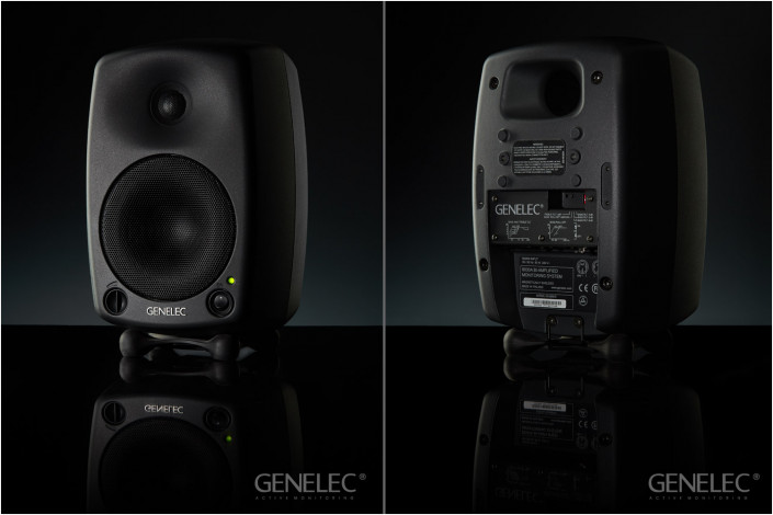 genelec speakers front and back for advert
