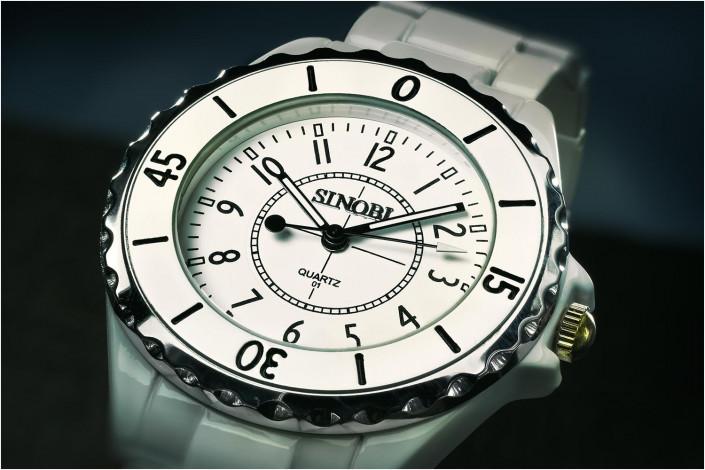 white watch close up