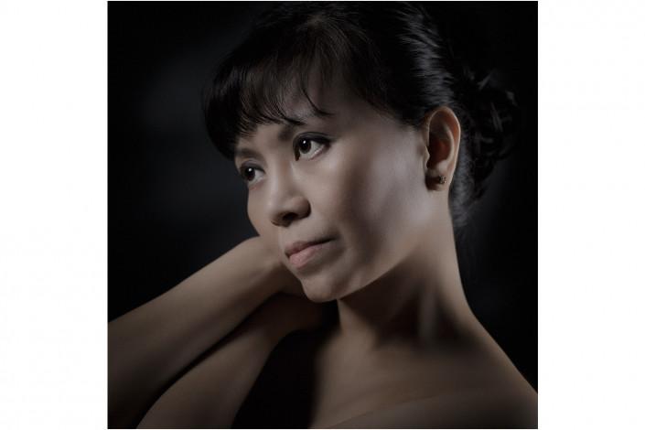 close up portrait showing great retouching