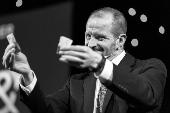 magician at a conference