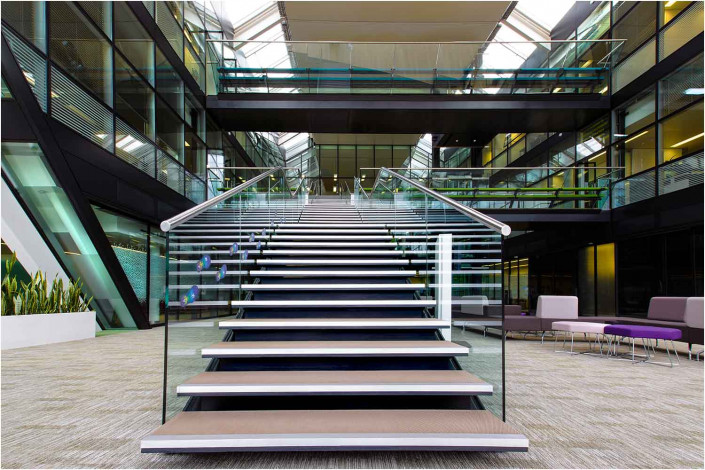 architectural photography office interior with stairs