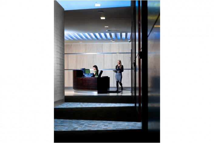 office reception interior photography