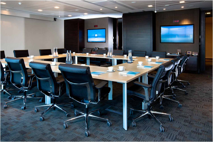 office conference room with tables