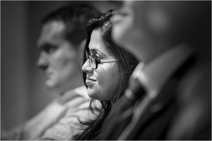 audience listening at a conference